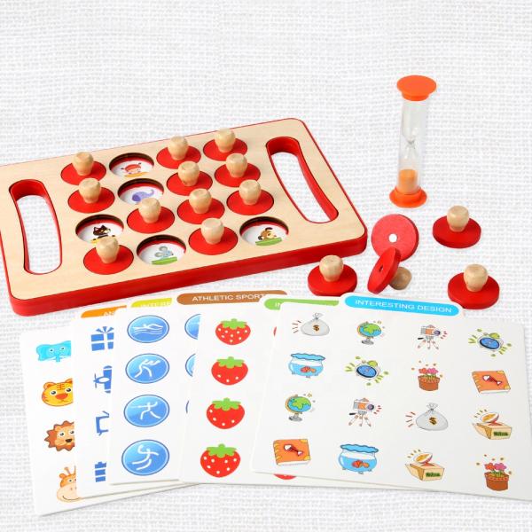 "Joc educativ Montessori pentru memorie ""Memory Chess"", Mattelot Toys 3"