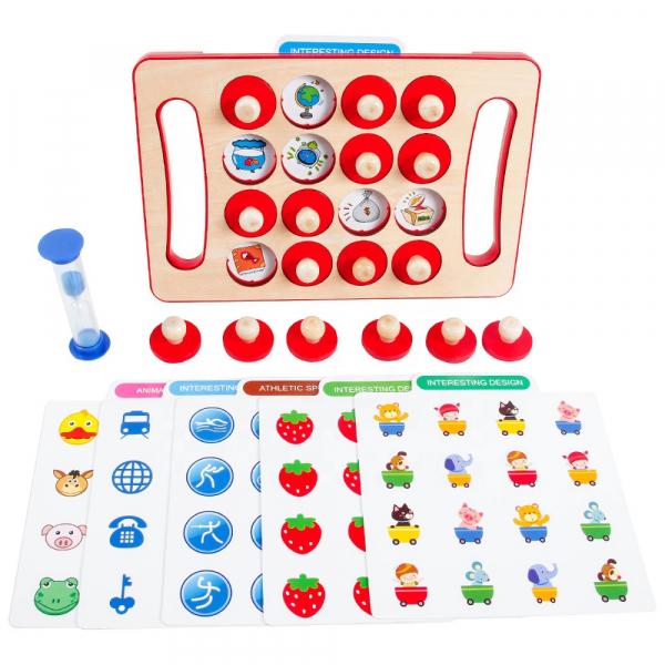 "Joc educativ Montessori pentru memorie ""Memory Chess"", Mattelot Toys 0"