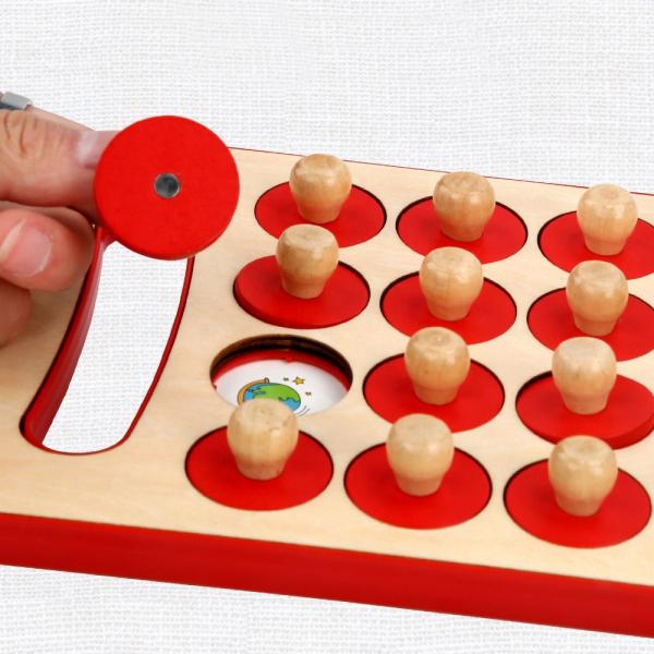 "Joc educativ Montessori pentru memorie ""Memory Chess"", Mattelot Toys 4"