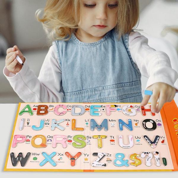 Joc lemn Carte cu Litere Magnetice si cuvinte in Engleza - Invatam alfabetul Pairing Letters [0]