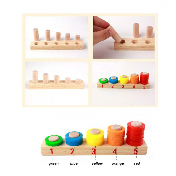Tabla educativa Montessori Matematica Donuts Number 2