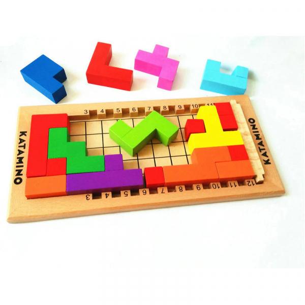Joc logic din lemn tetris - Katamino 1