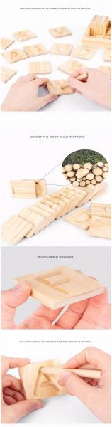 Joc Montessori din Lemn Placute Litere - Joc lemn montessori senzorial Alfabetul 2