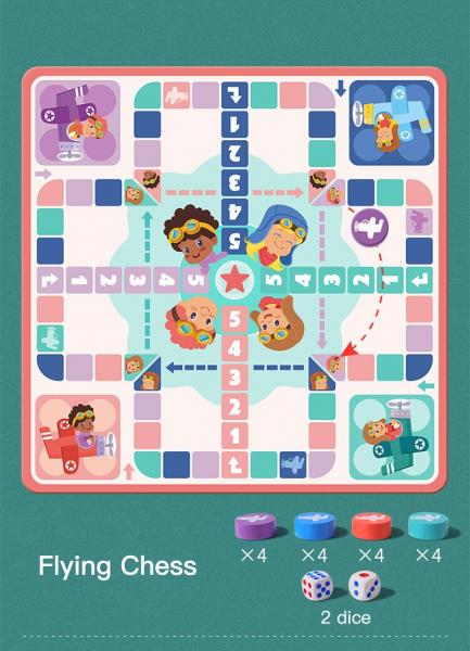 Joc din Lemn Educațional Dame - Joc din Lemn puzzle 7 în 1 6