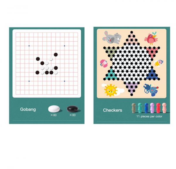Joc din Lemn Educațional Dame - Joc din Lemn puzzle 7 în 1 5