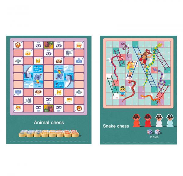 Joc din Lemn Educațional Dame - Joc din Lemn puzzle 7 în 1 4