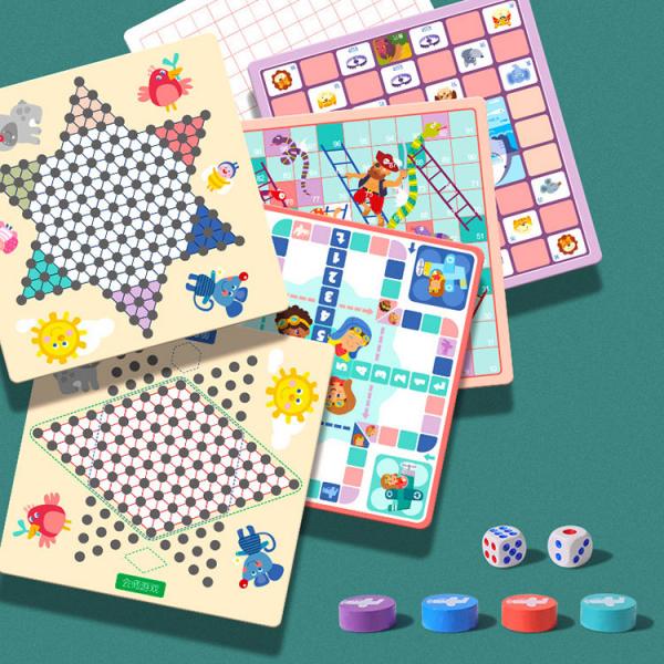 Joc din Lemn Educațional Dame - Joc din Lemn puzzle 7 în 1 3