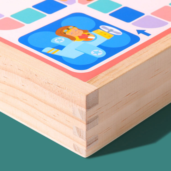 Joc din Lemn Educațional Dame - Joc din Lemn puzzle 7 în 1 8