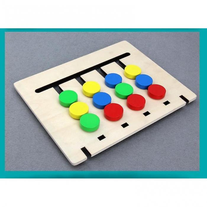 Joc pentru copii de indemanare si logica Sortare culori si animale, 4 Culori. Joc Montessori. [3]