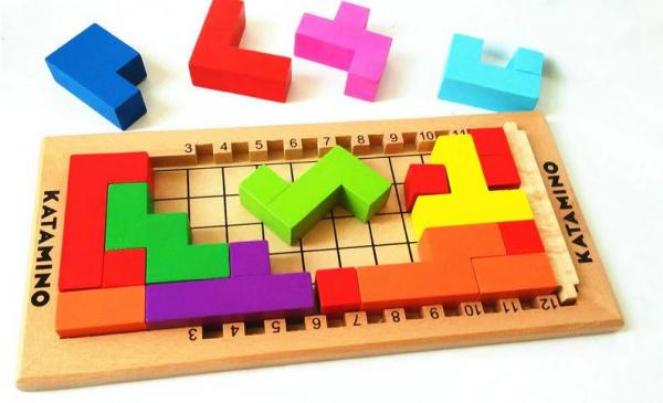 Joc logic Katamino din lemn [0]
