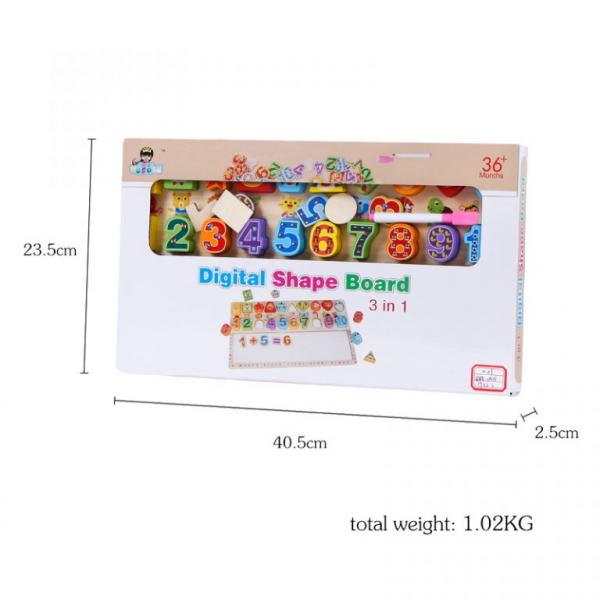 Tablita 3 in 1 cifre si forme , operatiuni matematice ,Digital Shape Board, functii diverse [4]