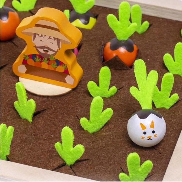 Joc lemn Memorie Gradina cu Legume - Joc Montessori din Lemn Gradina cu Legume [6]