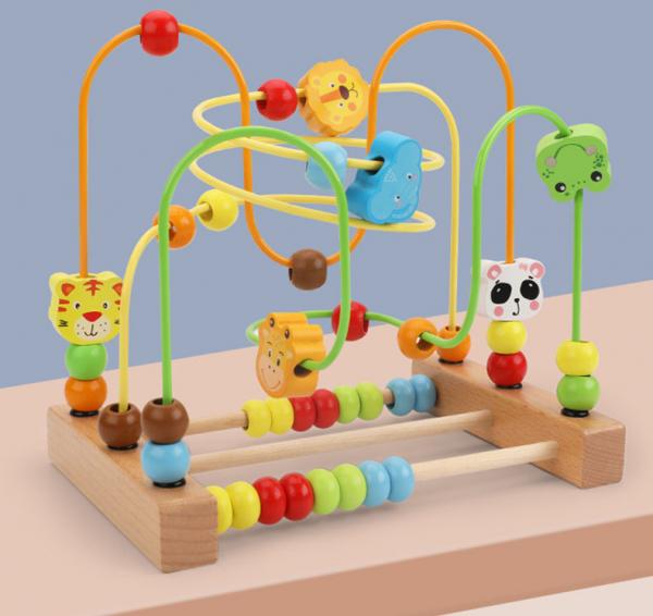 Labirint motricitate cu abac Animale – joc lemn [2]