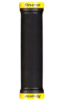 Mansoane Reverse Lock-On 29mm negru/galben [0]