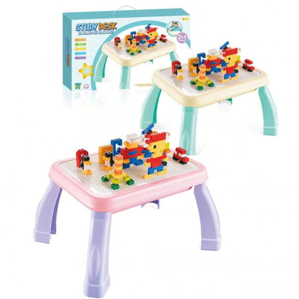 Masuta lego cu set cuburi incluse 2 in 1 Study Desk 2
