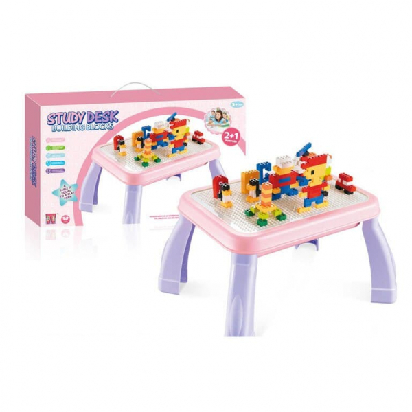 Masuta lego cu set cuburi incluse 2 in 1 Study Desk 0
