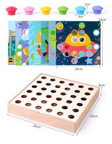 Joc mozaic creativ din lemn pentru copii 0