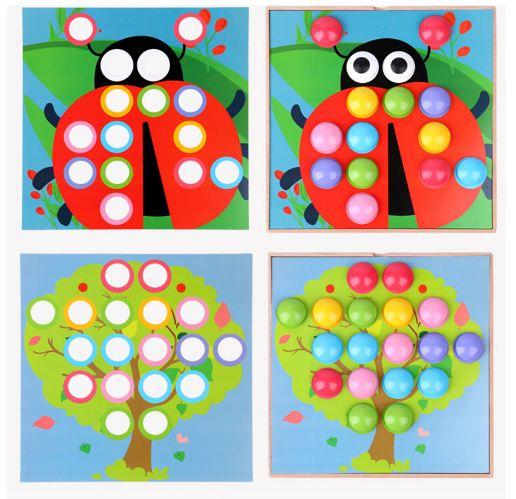 Joc mozaic creativ din lemn pentru copii 4