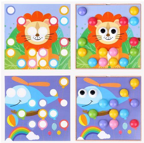 Joc mozaic creativ din lemn pentru copii 6