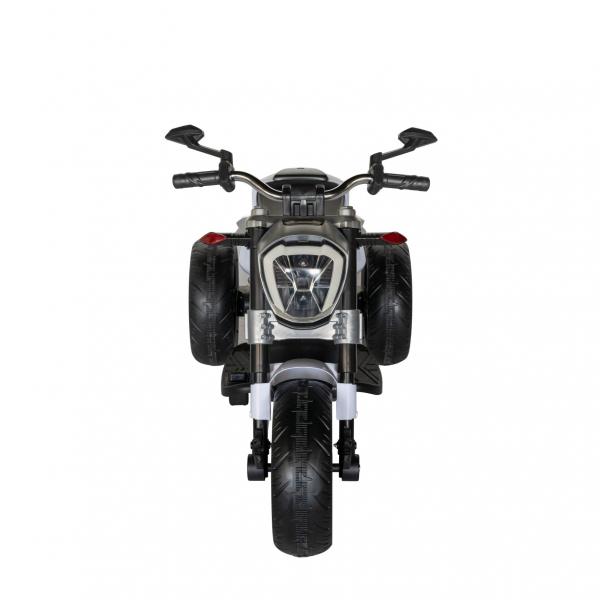 Motocicleta electrica copii cu acumulator, muzica si lumini, culoare alb/negru [1]