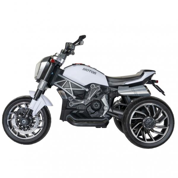 Motocicleta electrica copii cu acumulator, muzica si lumini, culoare alb/negru [3]