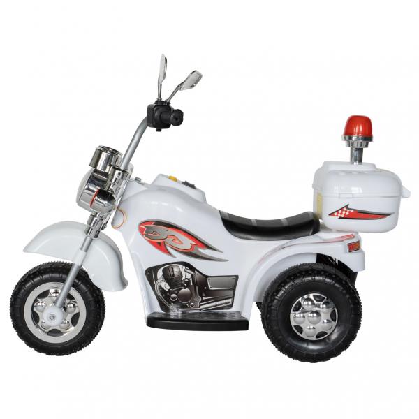 Motocicleta electrica copii cu acumulator, muzica si lumini, culoare alb 2