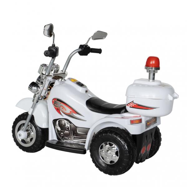Motocicleta electrica copii cu acumulator, muzica si lumini, culoare alb 3