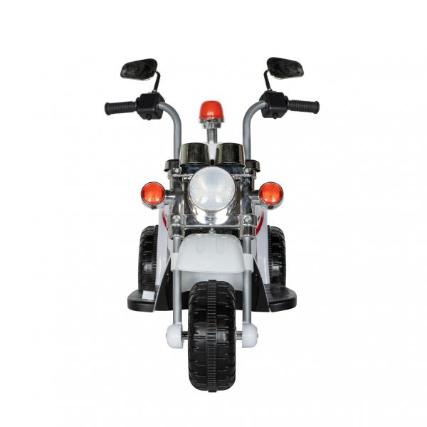 Motocicleta electrica copii cu acumulator, muzica si lumini, culoare alb 1