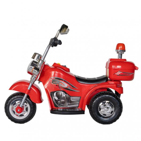 Motocicleta electrica copii cu acumulator, muzica si lumini, culoare alb/negru 2