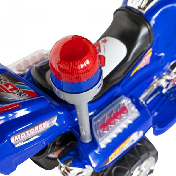 Motocicleta electrica copii cu baterie, muzica si girofar, culoare albastru 10