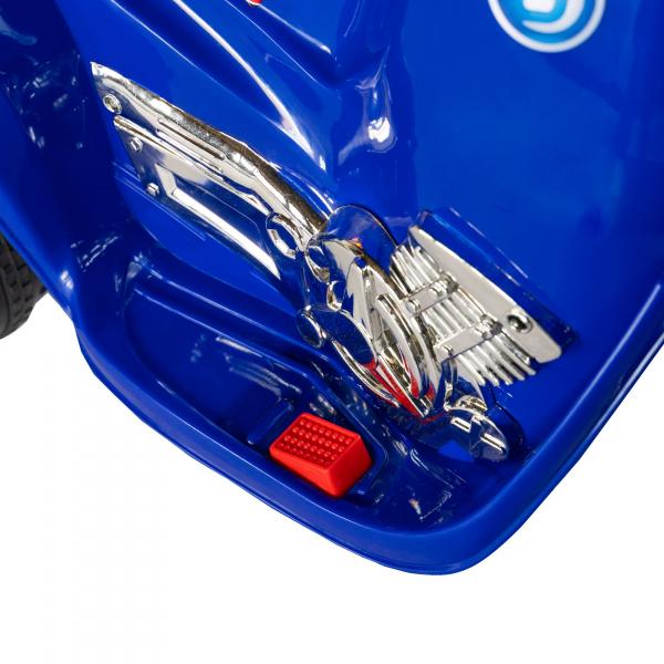 Motocicleta electrica copii cu baterie, muzica si girofar, culoare albastru 11