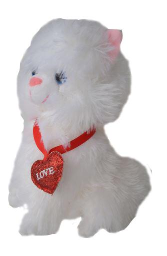 Pisicuță de pluș cu inimioară 0