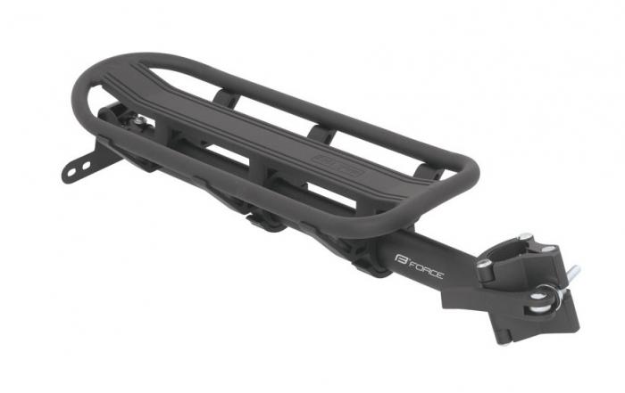Portbagaj spate Force pentru tija sa 25.0-31.6 mm aluminiu negru [0]