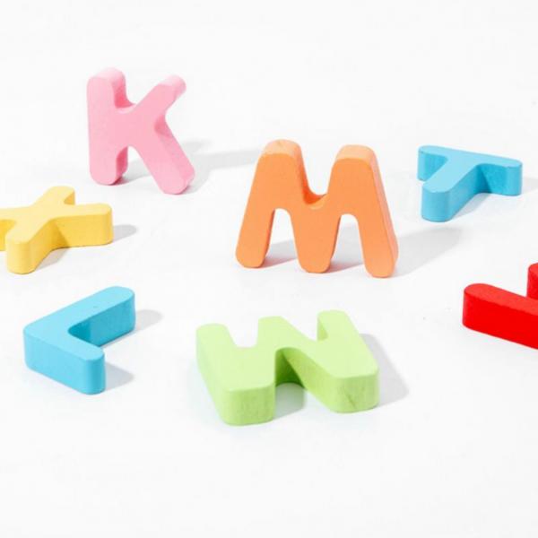 Puzzle 3D din lemn 3 în 1: Litere, joc pescuit și sortare bile colorate [5]