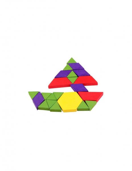 Joc Tangram Educativ cu 125 piese din lemn [4]
