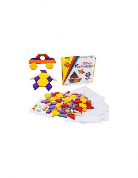 Joc Tangram Educativ cu 125 piese din lemn [0]