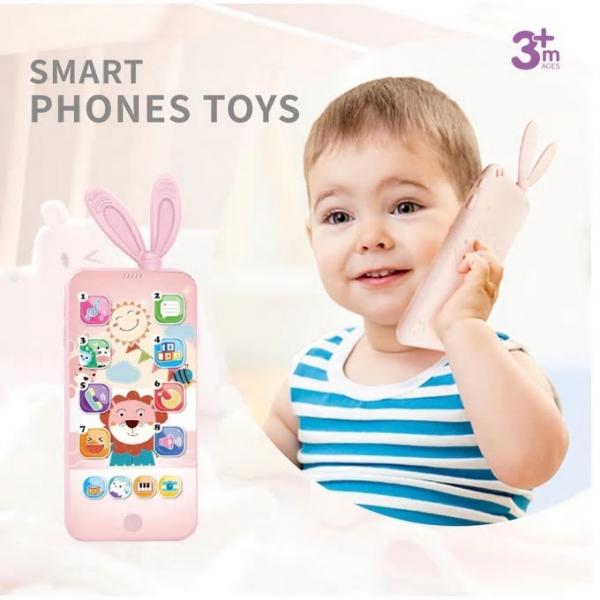 Jucarie interactiva telefon, Smart Phones Toys, + 3 luni, 1