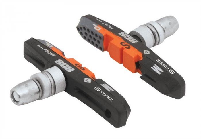 Saboti frana Force 70mm negru/portocaliu/gri ambalati [0]