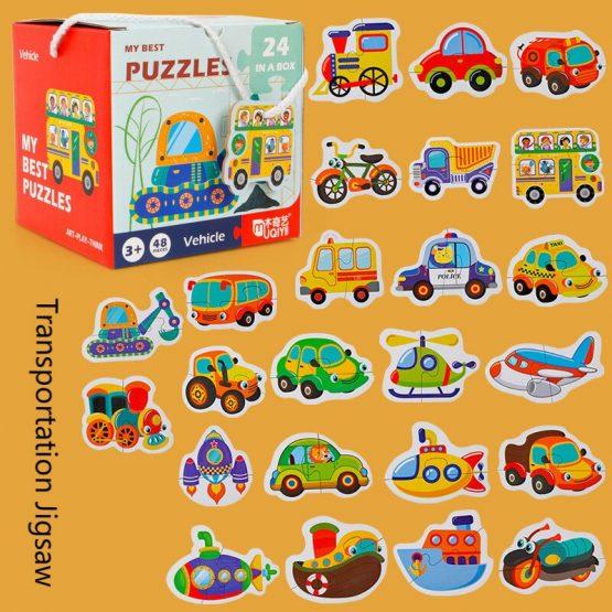 Set 24 puzzle My best puzzle - vehicule 1