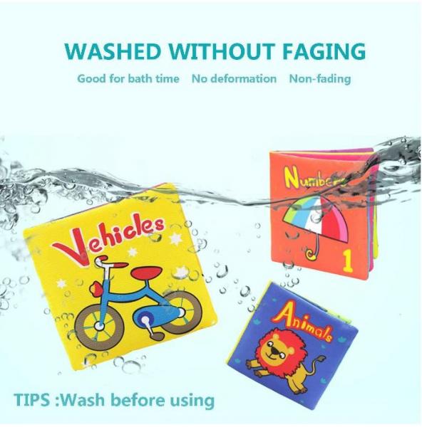 Set 6 cărți senzoriale, textile pentru bebeluși, Topbright, 0 luni+ 4