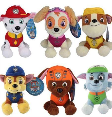 Set 6 jucării de pluș muzicale Patrula Cățelușilor 0