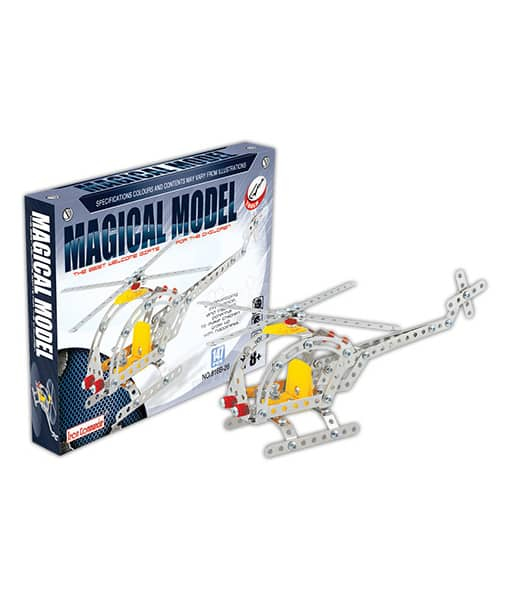 Set constructie metalic Elicopter, Magical Model , 181 piese 0