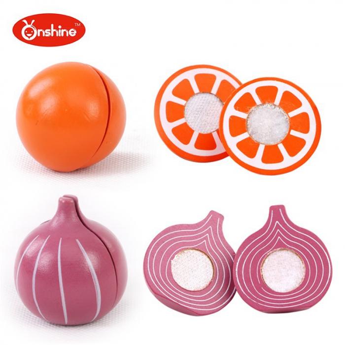 Set fructe și legume pentru copii din lemn Onshine 2