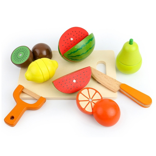 Ladita cu Fructe si legume de feliat din lemn 1