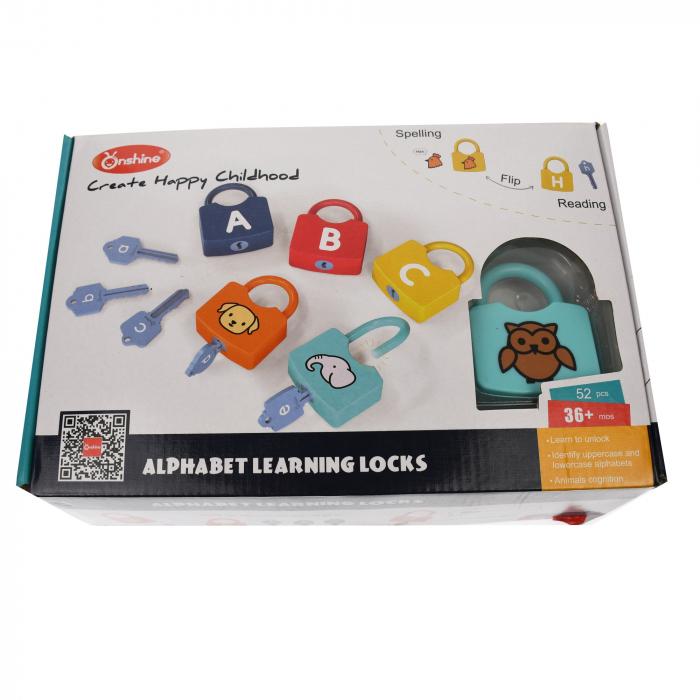 Set lacate de jucarie pentru invatat alfabetul,  52 de accesorii [4]
