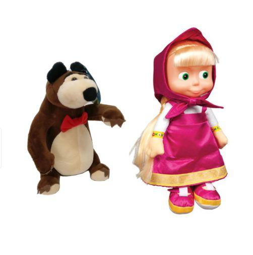 Set figurine plus Masha şi Ursul - muzicale (25 cm/30cm) [0]