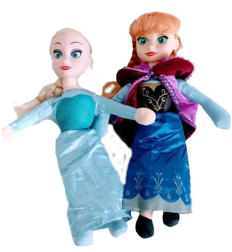 Set figurine plus muzicale Anna și Elsa (30 cm) 0