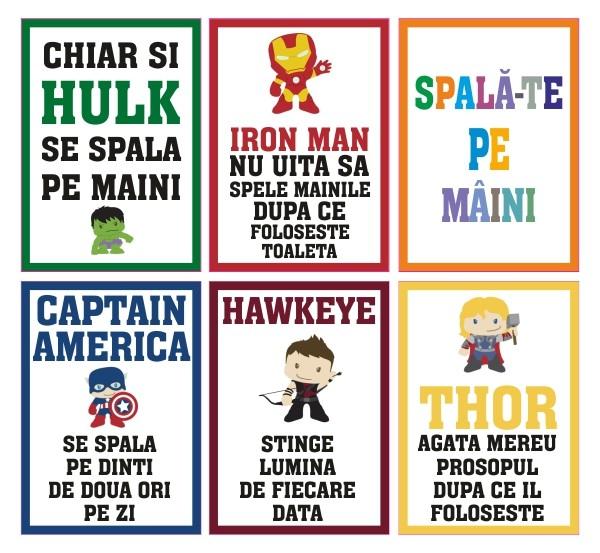 Set stickere decorative - SPALA-TE PE MAINI PENTRU COPII 0
