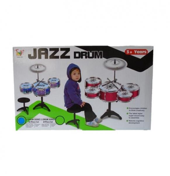 Set tobe pentru copii Jazz Drum, scaun inclus, 3 ani+ 3