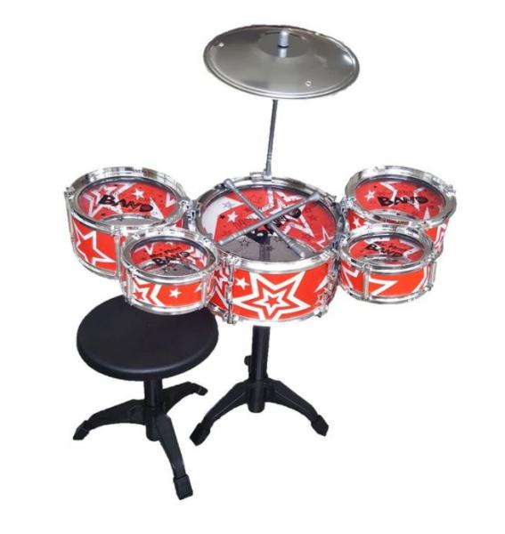 Set tobe pentru copii Jazz Drum, scaun inclus, 3 ani+ 0